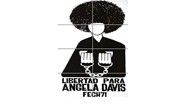 FREE ANGELA DAVIS CIVIL RIGHTS BLACK PANTHER COMMUNIST CHILE ART AFICHE CARTEL IMPRIMIR CARTELLO POSTER PD2271: Amazon.es: Hogar