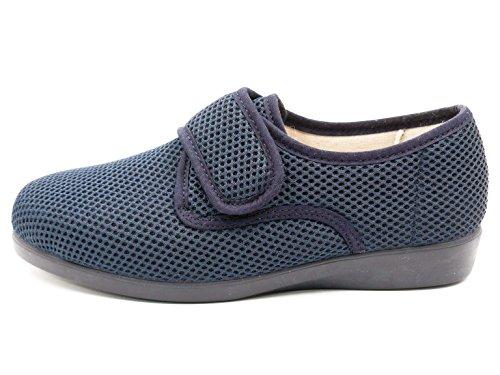 Zapatilla Mujer Calle DOCTOR CUTILLAS en Tejido Licra Color Azul, Cierre Velcro - Ancho Especial - 10201-1122: Amazon.es: Zapatos y complementos