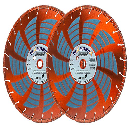 (2 Pack) Heavy Duty 14-Inch by 1-Inch Metal Cutting Rescue Diamond Blade with Diamond Side Coating for Power Hand-Held Power Saws & Chop Saws (14