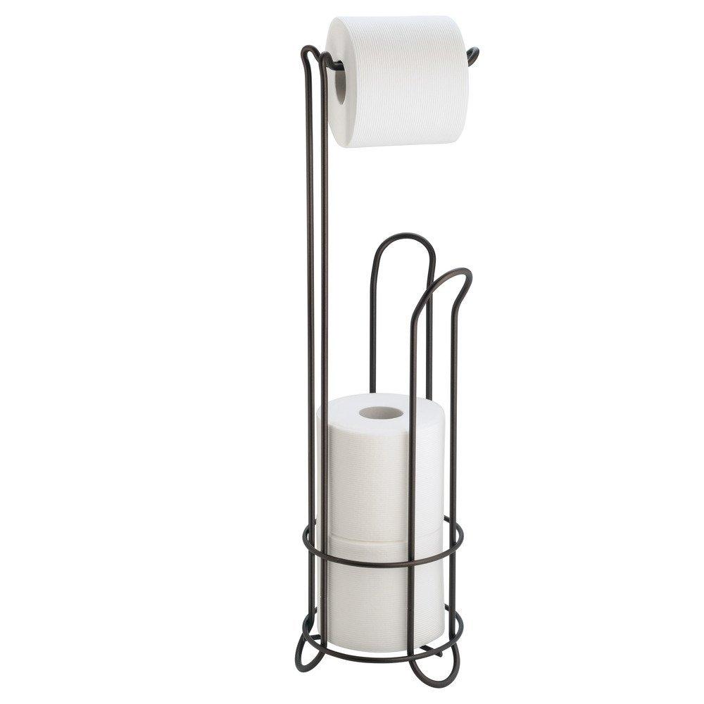 Interdesign classico free standing toilet paper holder for bathroom storage br ebay - Interdesign toilet paper holder ...
