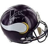 NFL Minnesota Vikings Cris Carter Autographed Helmet with Hall of Fame Inscription