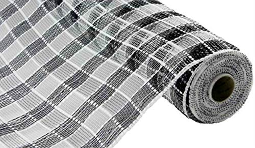 Plaid Check Deco Poly Mesh Ribbon- 10