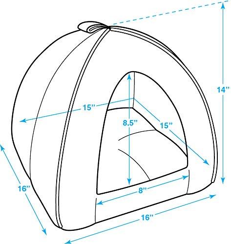 Best Pet Supplies Corduroy Tent Bed for Pets, Beige - Medium