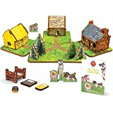 Storytime Toys, The Three Little Pigs Toy House and Storybook