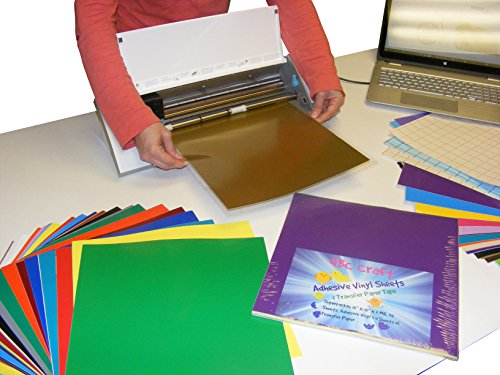 Qbc craft 12x12 permanent adhesive vinyl sheets 36 pack for Vinyl sheets for crafts
