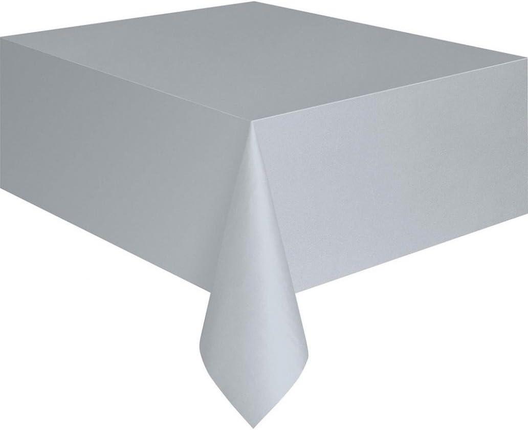 Swiduuk rectangle de plastique Housse pour table de f/ête Traiteur Nappe Taille unique Silver