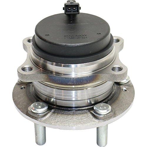 Hyundai Wheel Bearing - Wheel Hub and Bearing compatible with 2007-2016 Hyundai Santa Fe Rear Left or Right FWD With ABS Sensor Studs