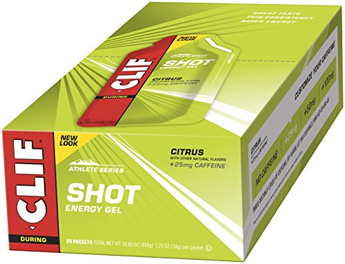 CLIF SHOT – Energy Gel – Citrus – With Caffeine 1.2 Ounce Packet, 24 Count