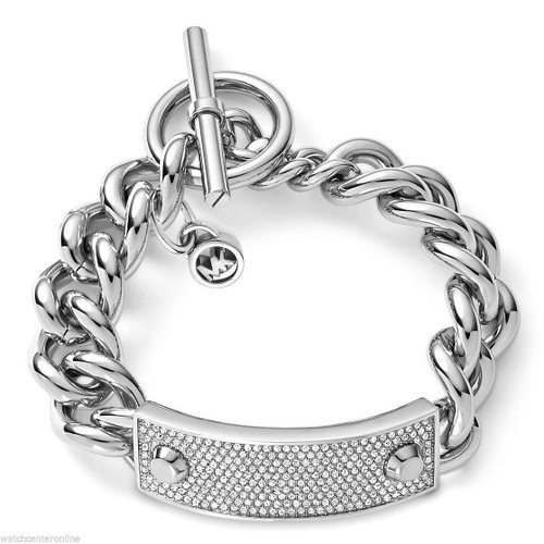 Michael Kors Collection Women's Pave Plaque Toggle Bracelet (Plaque Link)