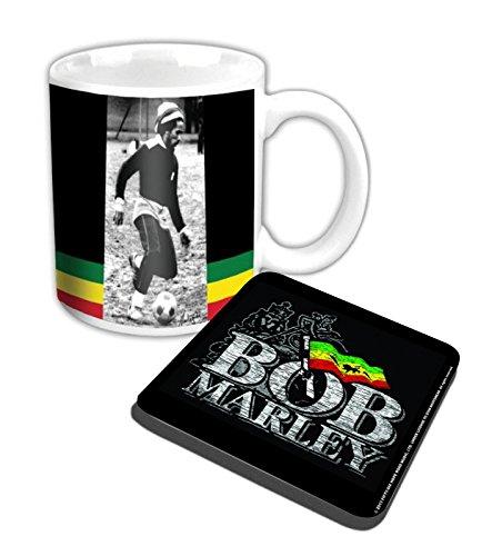 - Bob Marley Mug And Coaster Soccer Official Gift Set