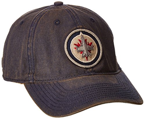 fan products of NHL Winnipeg Jets Men's SP17 Vintage Slouch Adjustable Cap, Navy, One Size