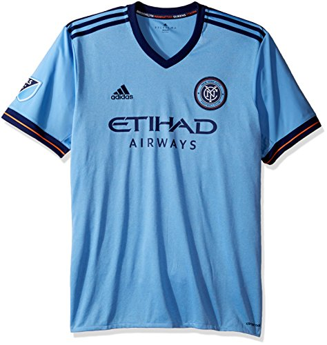 MLS New York City FC Adult Men Replica Wordmark s/jersey,Medium,Light Blue ()