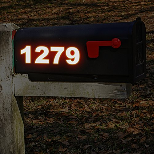 3 Reflective Inch Number (Reflective Vinyl Numbers Stickers 3 Inch Self Adhesive - 2 Sets - Premium Decal Die Cut and Pre-Spaced for Mailbox, Signs, Window, Door, Cars, Trucks, Home, Business, Address Number, Indoor or Outdoor)