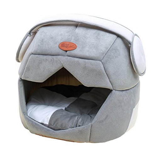 Gracefur Pet Bed Orthopedic Creative Capsule Kennel Removable Dog Couch With Waterproof Bottom for Dogs & Cats Grey L