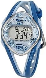 Timex Women's T5K509 Ironman Sleek 50-Lap Blue Resin Strap Watch