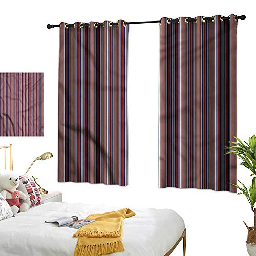Davishouse Thermal Insulated Drapes for Kitchen/Bedroom Vertical Barcode Lines72 Wx63 L