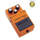 Boss DS-1 Distortion Effects Pedal for Guitar, Bass, and Keyboard with 1 Year Free Extended Warranty