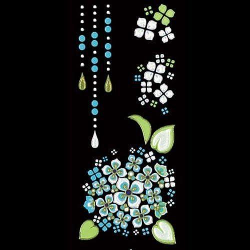 蒔絵シール-舞妓はんの華かんざし 6月(紫陽花)