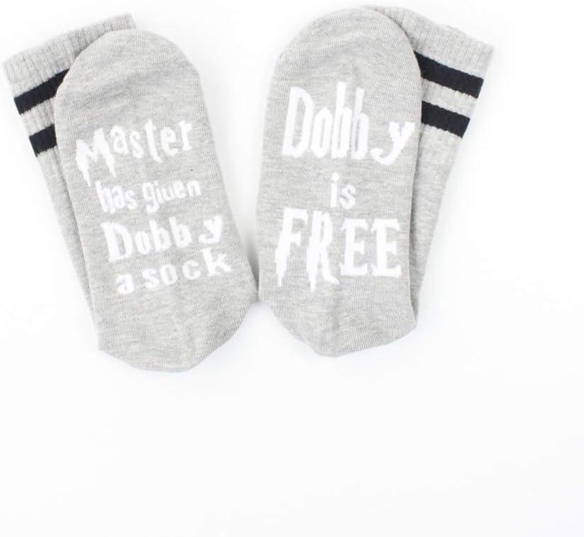 3 Paires Dobby est Chaussettes gratuites Chaussettes en Coton Cadeau Cadeau e Chaussettes Unisexes dr/ôles Dames Hommes Lettre Anglaise mod/èle Chaussettes