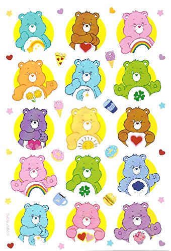 - Care Bears Stickers, Single Package has 3 Sheets and 69 Stickers