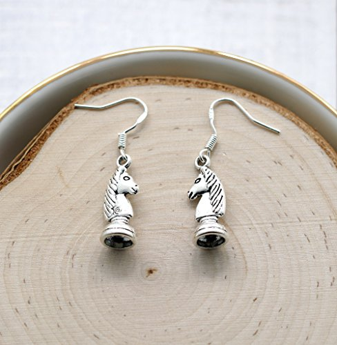Chess Piece Earrings for Women - 925 Sterling Silver Hooks - Chess Lover Gifts - Chess Jewelry for Girls & Kids - Fast Shipping