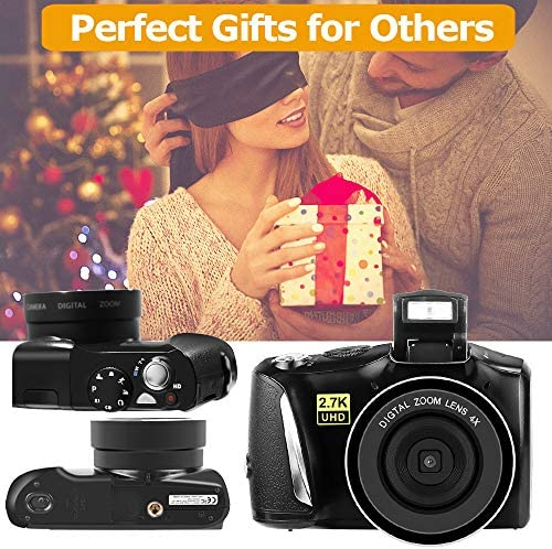 Digital Camera Full HD 2.7K Vlogging Camera 48.0 Megapixels YouTube Camera with 4X Digital Zoom and three.0 Inch Screen Compact Camera for Beginners Photography