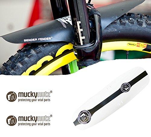 Mucky Nutz Fender MTB Spritzschutz Schutzblech (XL Face Fender Weiß)