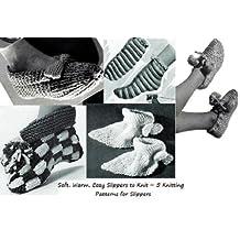 Douces, chaudes, confortables pantoufles à tricoter ~ 5 modèles de tricot pour des chaussons (French Edition)