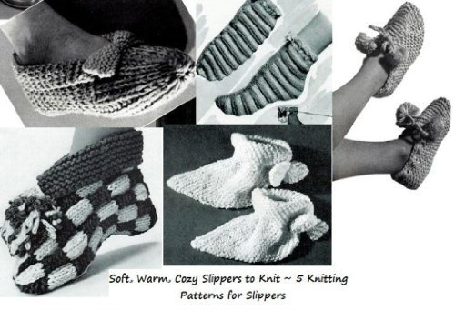 Amazon Soft Warm Cozy Slippers To Knit 5 Knitting Patterns