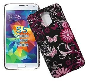 Accessory Master 5055716379273 - Funda para Samsung Galaxy S5 I9600 G900f y G900h, color Negro y Rosa