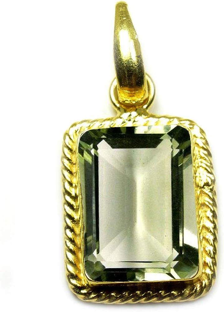 55Carat Choose Your Stone Pendant Rectangle Shape Sterling Silver 18K Gold Plated Locket For Men Women