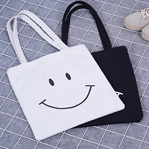 Antcher 2 Pack Cotton Tote Bags, Reusable Shopping Shoulder