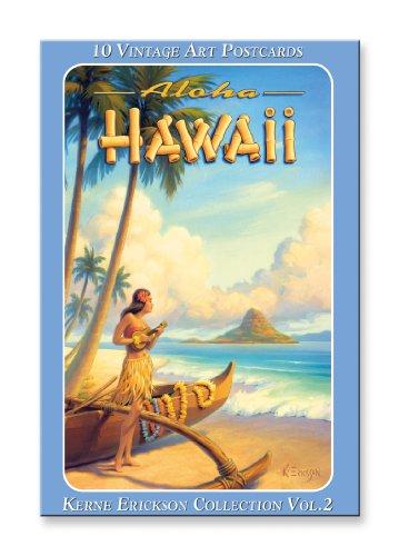Island Postcard (Hawaiian Vintage Boxed Postcards Set of 10 - Kerne Erickson Collection Vol.2 by Kerne)