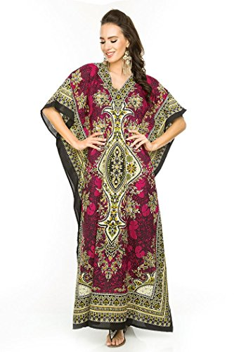 Libre Maxi Glam Coupe Looking 007 Neuf Kimono Oversize Taille Tunique Robe Caftan Rose pour Caftan Femmes nxTOYdqO