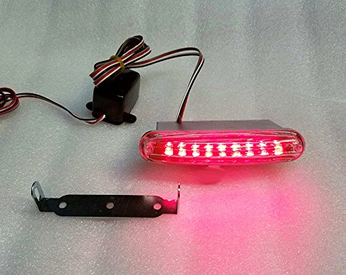 Led Red Scanner (LED Theft Deterrent Auto Alarm Scanner Auxiliary light for Car or Truck - RED)