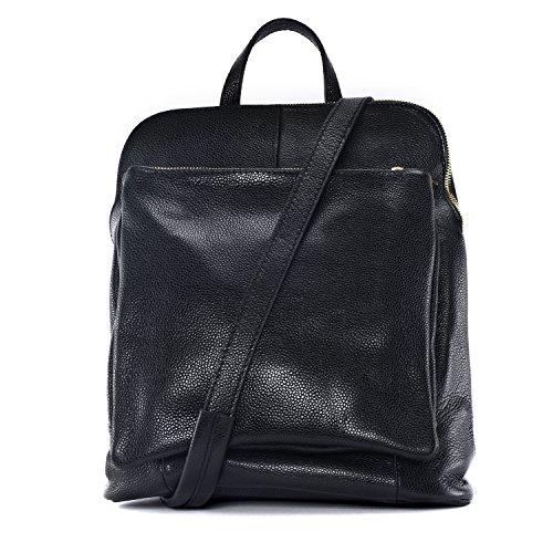 Noir sac dos à à Sac femme cuir grainé en Panda main amp;Cie wP4xOUq6S