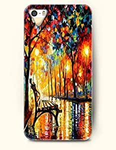 iPhone 5/5S Case, SevenArc Phone Cover Series for Apple iPhone 5 5S Case (DOESN'T FIT iPhone 5C)-- A Bench And Trees...