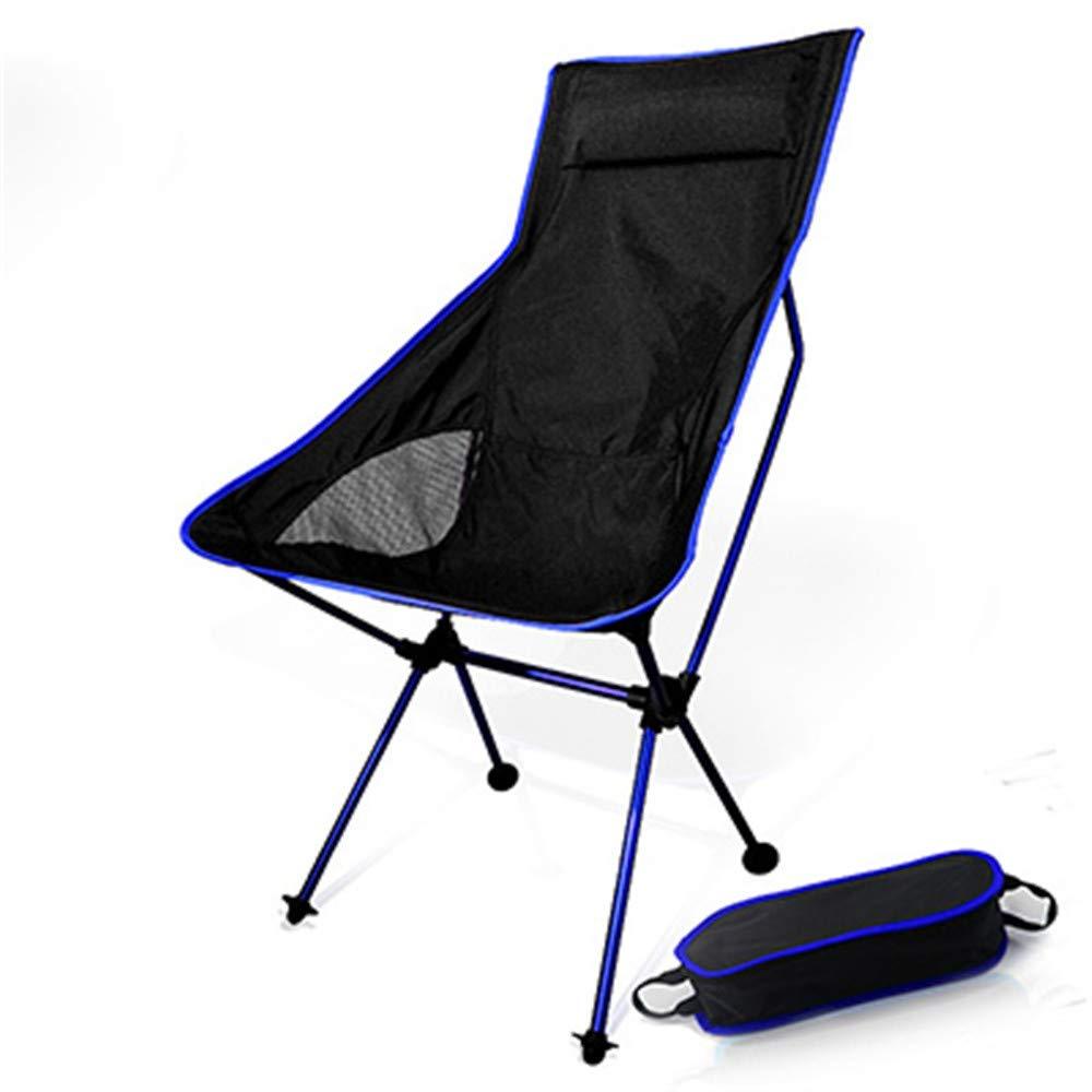 Dark bleu  Noodei portable Pliable Chaise De Lune De Camping De Camping BBQ Tabouret Pliant Extended Randonnée Seat Jardin Ultralumière Office Home Furniture Camping liefert