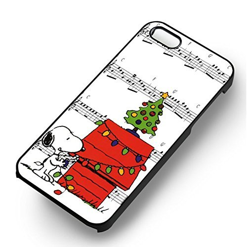 Snoopy Lets Sing Jingle Bells for Cover Iphone 6 and Cover Iphone 6s Case (Black Hardplastic Case) T7P1YS