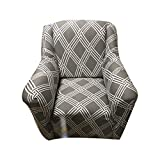 FORCHEER Knit Elastic Sofa Slipcover Sofa Cover Form Fit Slip Resistant Couch Chair Protector Covers (Pattern #8,Chair)