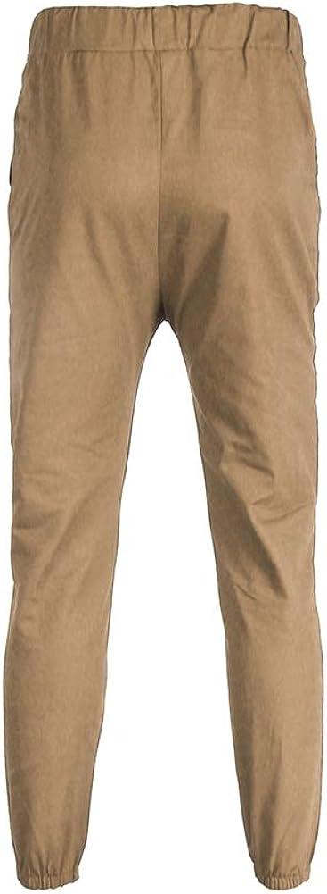 Dilicwa Pantaloni Sportivi Slim Fit da Uomo Pantaloni da Jogging da Ginnastica di Fondo Pantaloni con Risvolto
