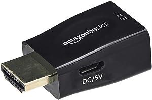 AmazonBasics HDMI (Male) to VGA (Female) Compact Adapter