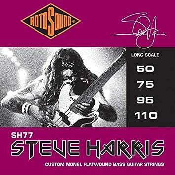 RotoSound SH77 Steve Harris - Cuerdas para bajo electrónico (50-110): Amazon.es: Instrumentos musicales