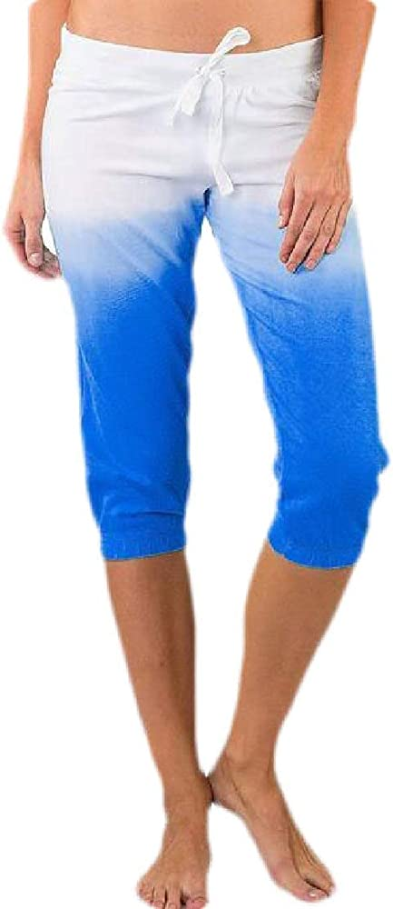 dahuo Bermuda Pantalones Cortos de caña Media para Mujer, Color ...