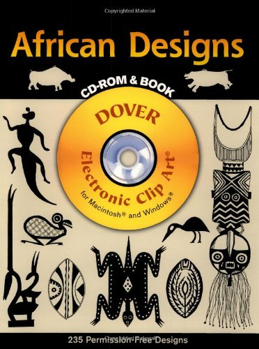 African Designs CD-ROM and Book (Dover Electronic Clip Art) -