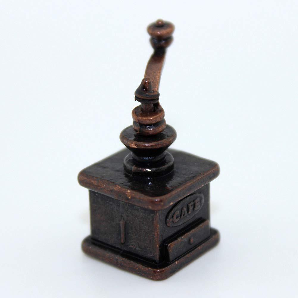 qingsb 1:12 1:6 - Máquina de moler de café en Miniatura para decoración de casa de muñecas: Amazon.es: Hogar
