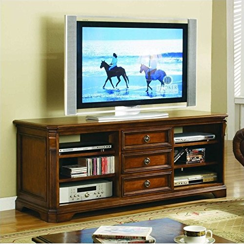 Hooker Furniture 281-55-458 Brookhaven 64'' TV Console, Medium (Distressed Cherry Tv Stand)