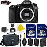 Canon EOS 80D 24.2 MP Digital SLR Camera Body Only with Dual Pixel CMOS AF Full HD 1080p Video + 2pc High Speed 32GB Memory Cards + Canon Case + Cleaning Pen + Cleaning Kit + 9pc Accessory Kit