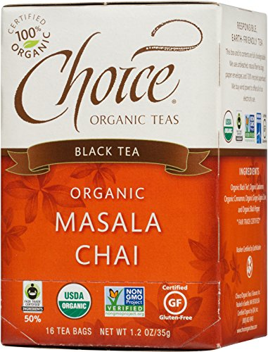 Choice Organic Teas Black Tea, 16 Tea Bags, Masala Chai