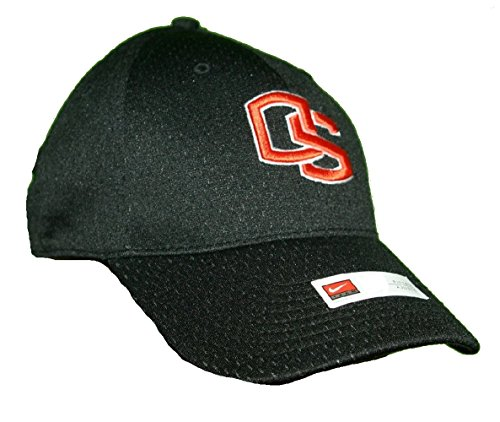 Nike Oregon State Beavers Fitted Jersey Baseball Cap Black Orange